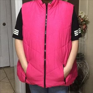 Lane Bryant Reversible Vest (Pink/Black)